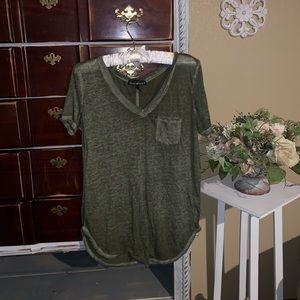 Green sheer t shirt